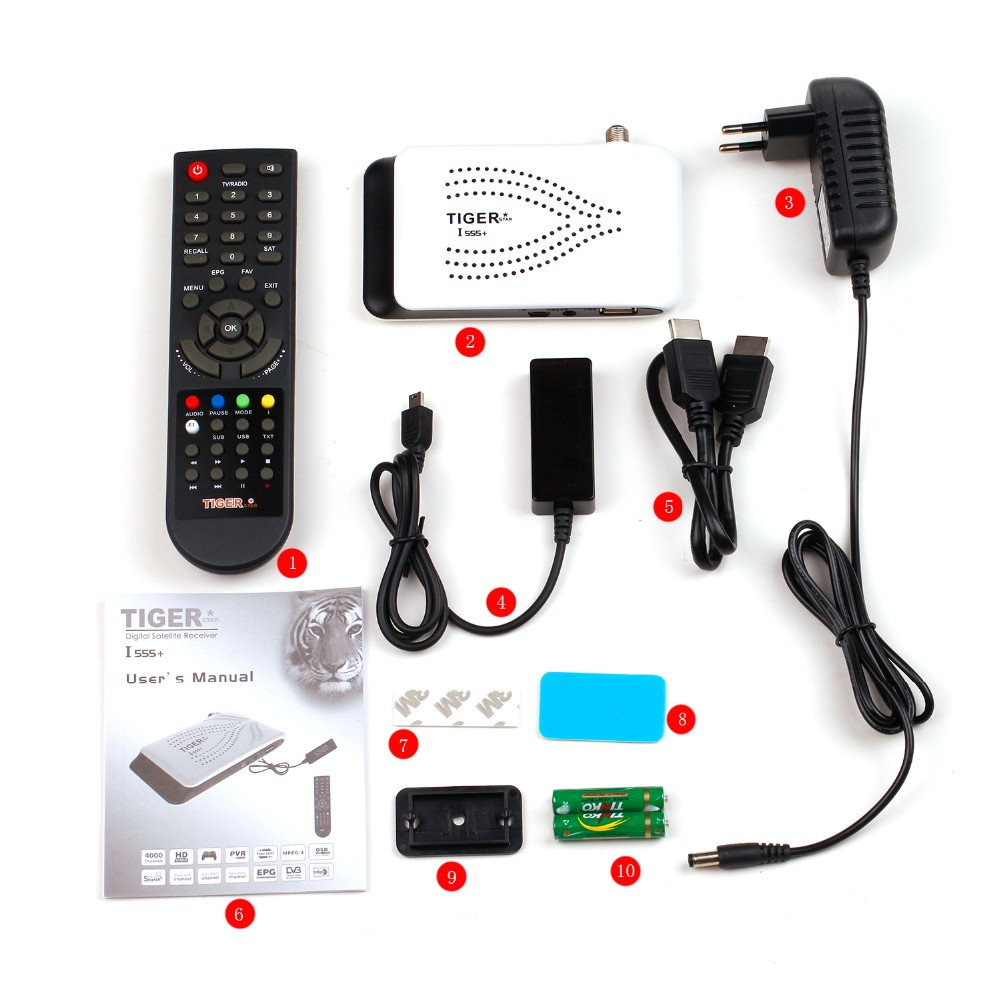 Tiger I555 + Free to Air Digital Satellite Receiver