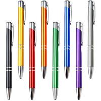 luxury promotion metal ball pen with logo advertising ballpoint personalized metal pen wholesale