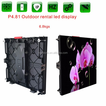 p4.81 outdoor rental led display for stage