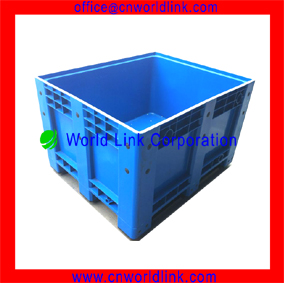 Stacking Solid Plastic Industrial Storage Containers