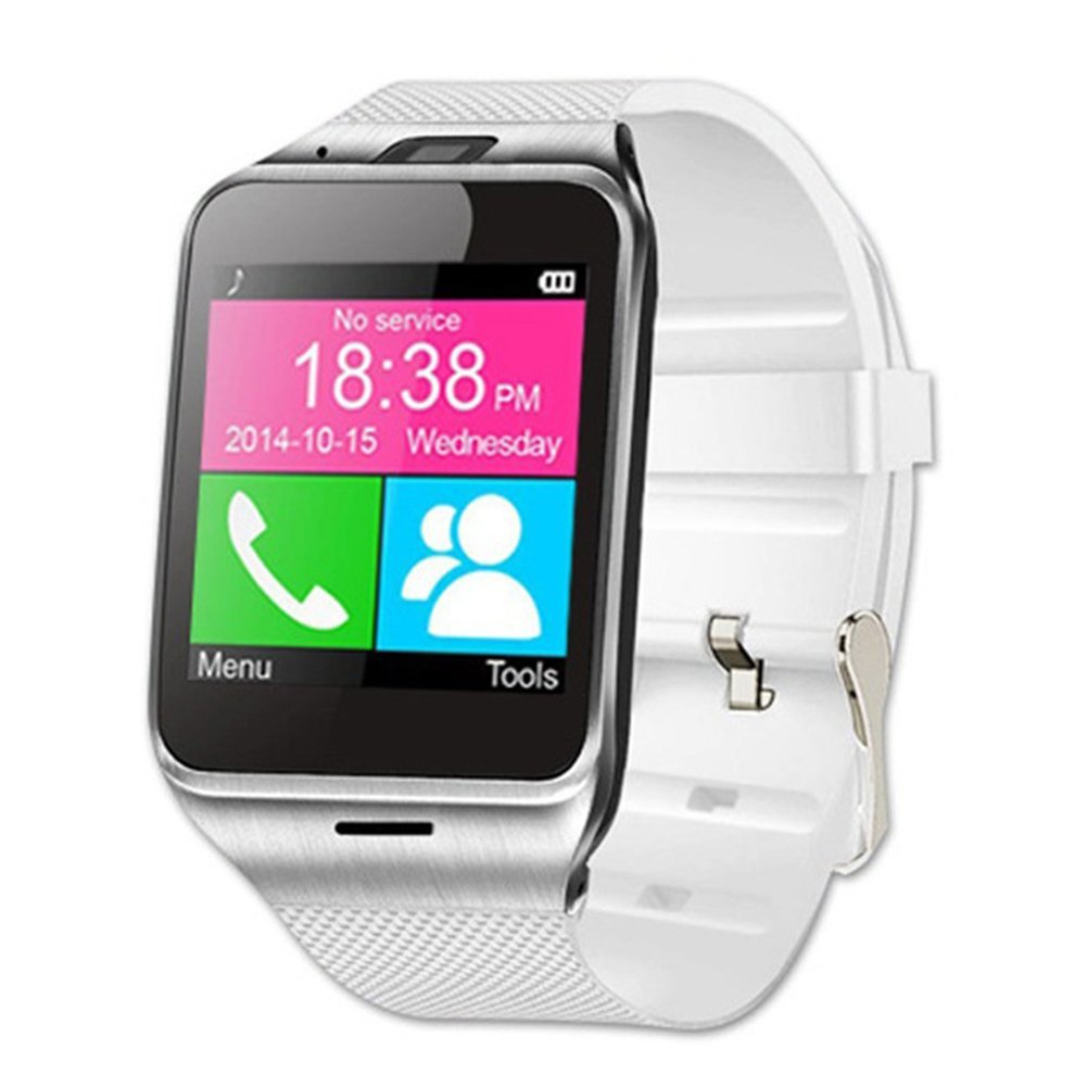 Smart Watch Phone YOOME Aplus GV18 Unlocked Quad-band Smartphone Wristwatch Support NFC GSM SIM Card SD Card Camera Pedometer for Android Samsung S4/S5/S6/S7 HTC Sony LG and iPhone (White)