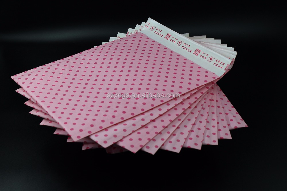 4x6 Wholesale Kraft Bubble Mailer Pink with printing
