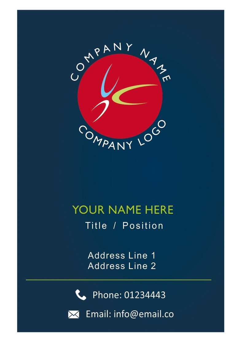 Custom Logo Visiting Card Personalised Business Cards Design Your Own - Front