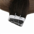 16 inch to 22 inch double drawn tape human virgin brazilian straight hair extensions