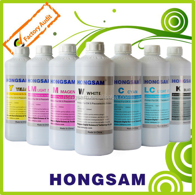 Digital textile pigment ink for Epson,Spectra,SPT,Kyocera,Ricoh,Konica minolta printhead industrial textile printer