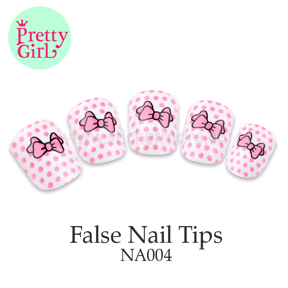 Pink Glitter Fake Nails Short Oval Full Artificial Nail Tips NA004