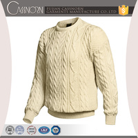 fashion classic pattern design mens pullover merino wool custom cable knit sweater