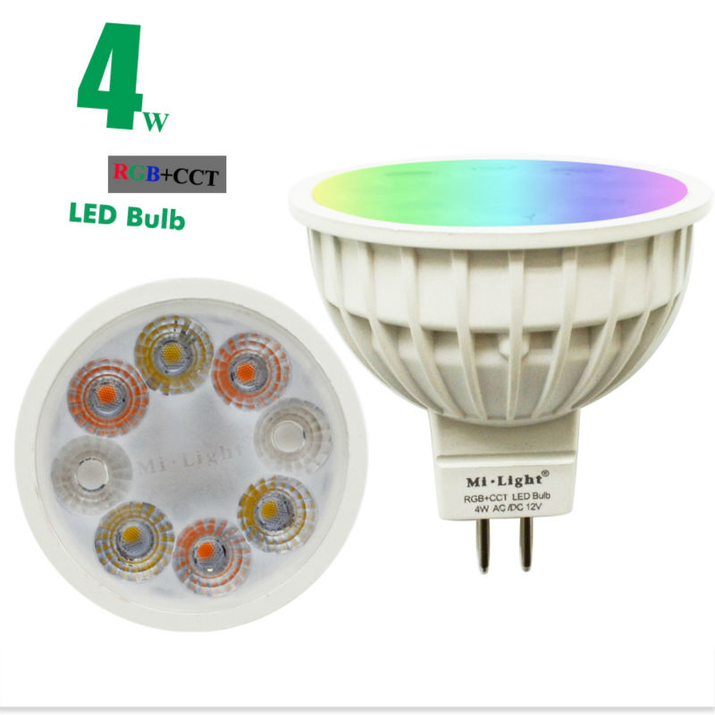 MiLight 12V 4W MR16 Bulb RGB CCT Smart LED Spotlight FUT104