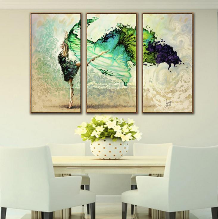 nordic modern watercolor ballet dancer art printing oil painting