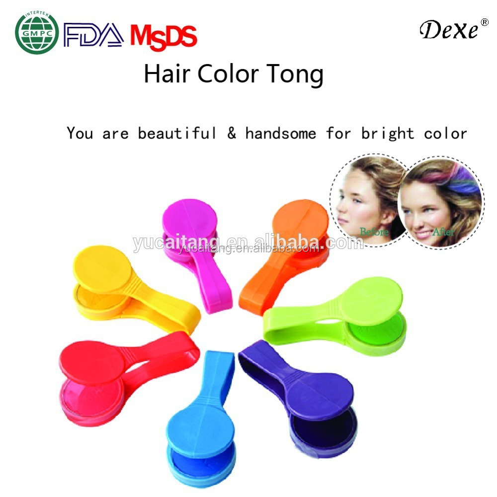 2016 new portable hair color chalk clamp instantly dye hair