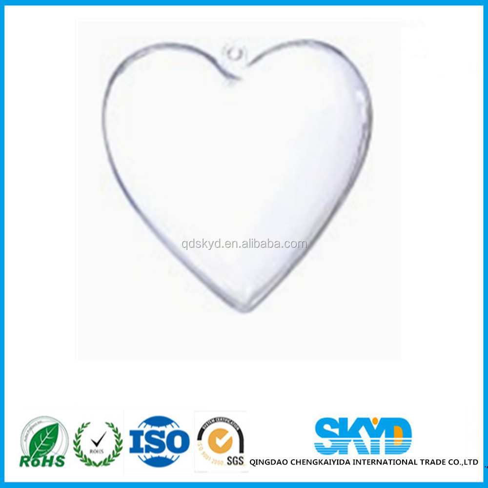 Heart Shaped Box Fillable Transparent Plastic Container gift