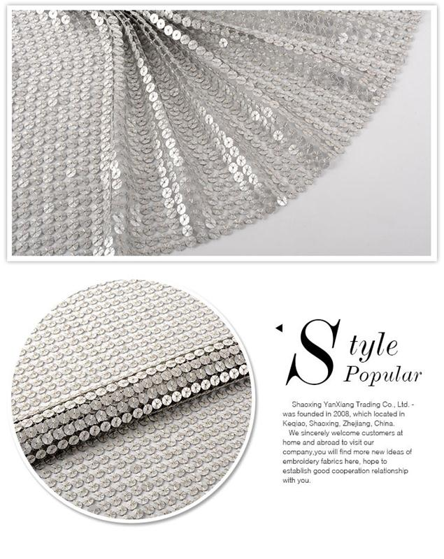 High-End Diamond Embroidery Patterns Design polyester sequin fabric