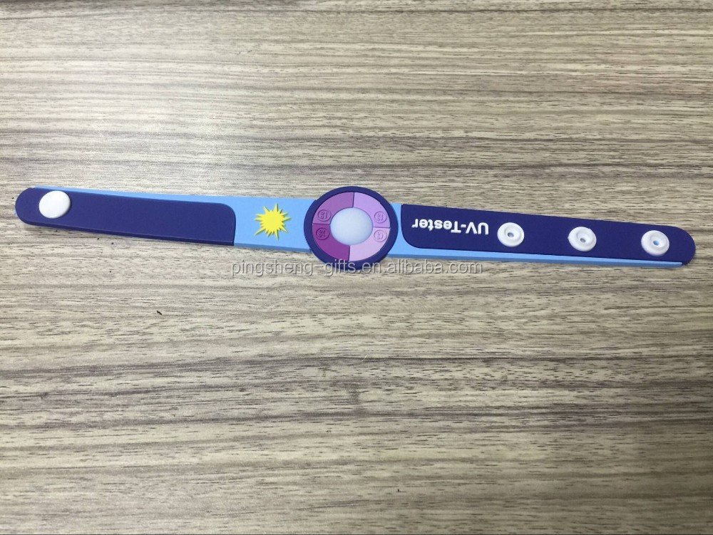 UV TEST change color wristband
