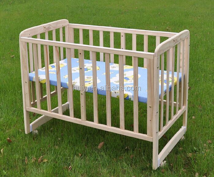 Charming Custom Made Unfinished Wooden Baby Crib