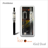 2014 new hot products e shisha lava tube e-cig iGo2 dual flavors clearomizer electric shisha pen
