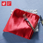 High Quality Reusable 100% Linen Natural Color Luxury Dinner Table Napkins Customized Logo From China