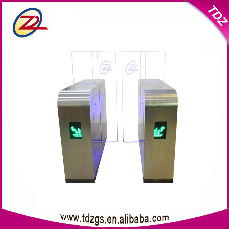 rfid access control system stainless steel gate sliding turnstile door