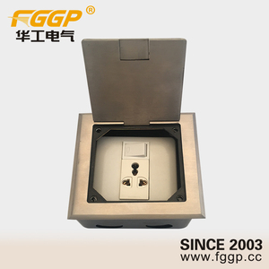 13 amp 220v floor mounted stainless steel cover switched socket outlet with junction box