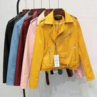 B31868A 2019 Fashion factory price ladies jacket women clothing pu/polyester leather jacket