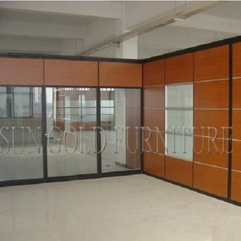 new fashion glass wood partition for office,hotel,school (sz-ws644