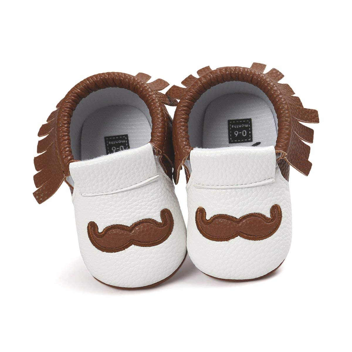 a79310176c47 Get Quotations · Hongfei 6-12 Months(Brown) Baby Moccasins