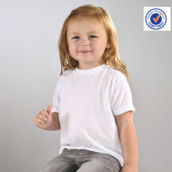 Kids blank white t shirt wholesale below $1