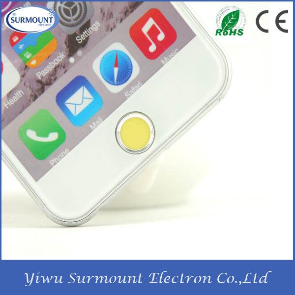 wholesale touch id home button sticker Hot sale home button sticker for Iphone 5/6s