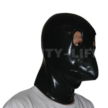 New arrival latex hood mask sexy fetish animal series zipper on back lovely baby bird