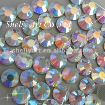 Hotfix crystal wholesale ss20 crystal AB iron on transfer rhinestone