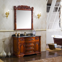 High end french 3 drawers 2 doors antique bathroom vanity cabinet MD-553