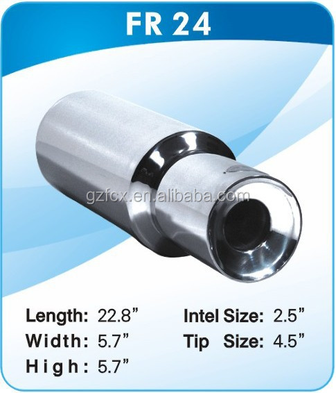 201 Stainless steel material universal muffler to cars