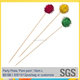 Bar equipment Decorative Glitter Pom Pom Cocktail Sticks