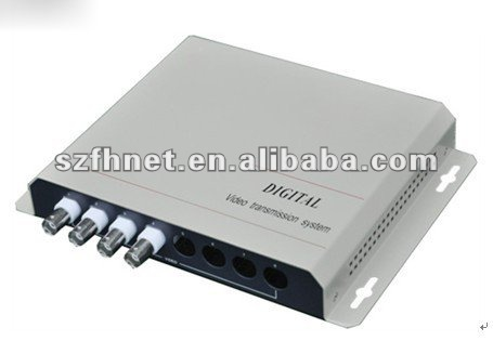 4-CH Fiber Optic Video Multiplexer with Video Only