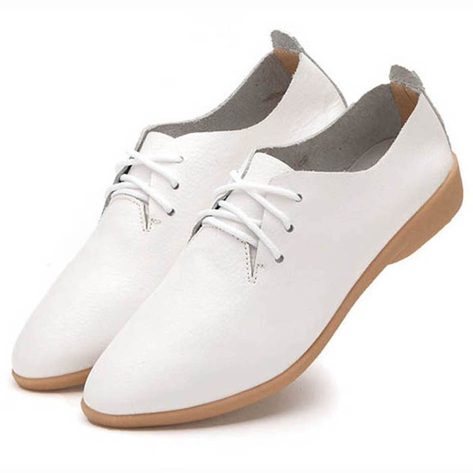 3ae175da Get Quotations · 2015 Summer Style White Leather Shoes Woman/White Leather  Oxfords Women/Lady White Flats