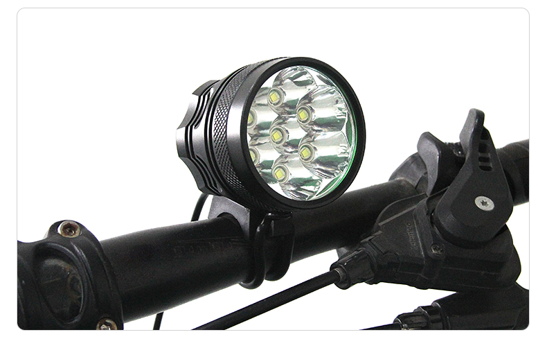15 x XM-L T6 15T6 25000 Lumen Waterproof LED Front Bicycle Bike Light with Rechargeable 18650 Battery Pack and 8.4V Charger