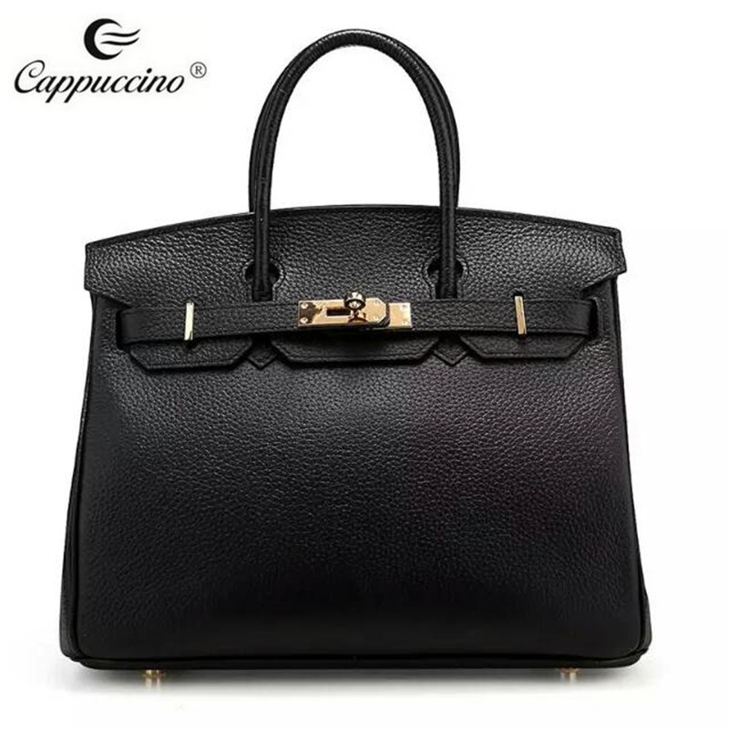2016 Fast delivery stock leather bag and genuine leather tote bag for women