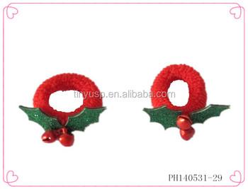 mini elastic hair band kids christmas hair scrunchies hair