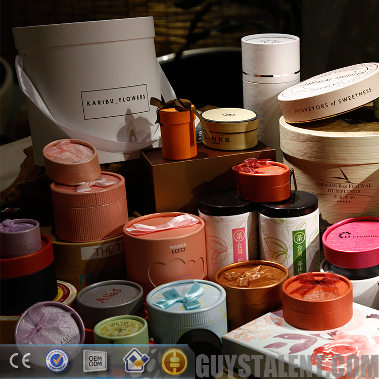 custom private printed paper cylinder packaging box