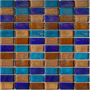 Restaurant Design India Cracked Glass Nature Stone Mosaic