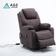 Comfortable Genuine Leather Electric Recliner Massage Sofa with Massage Chair