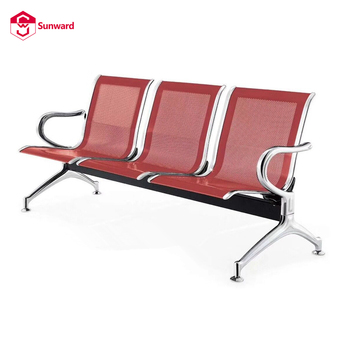 4 Gang Chair Hospital Stainless Steel Bench Bus Station Seating Waiting Room Area