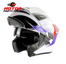 Motorcycle flip up helmet DOT full face helmet anti-fog lens off-road casco