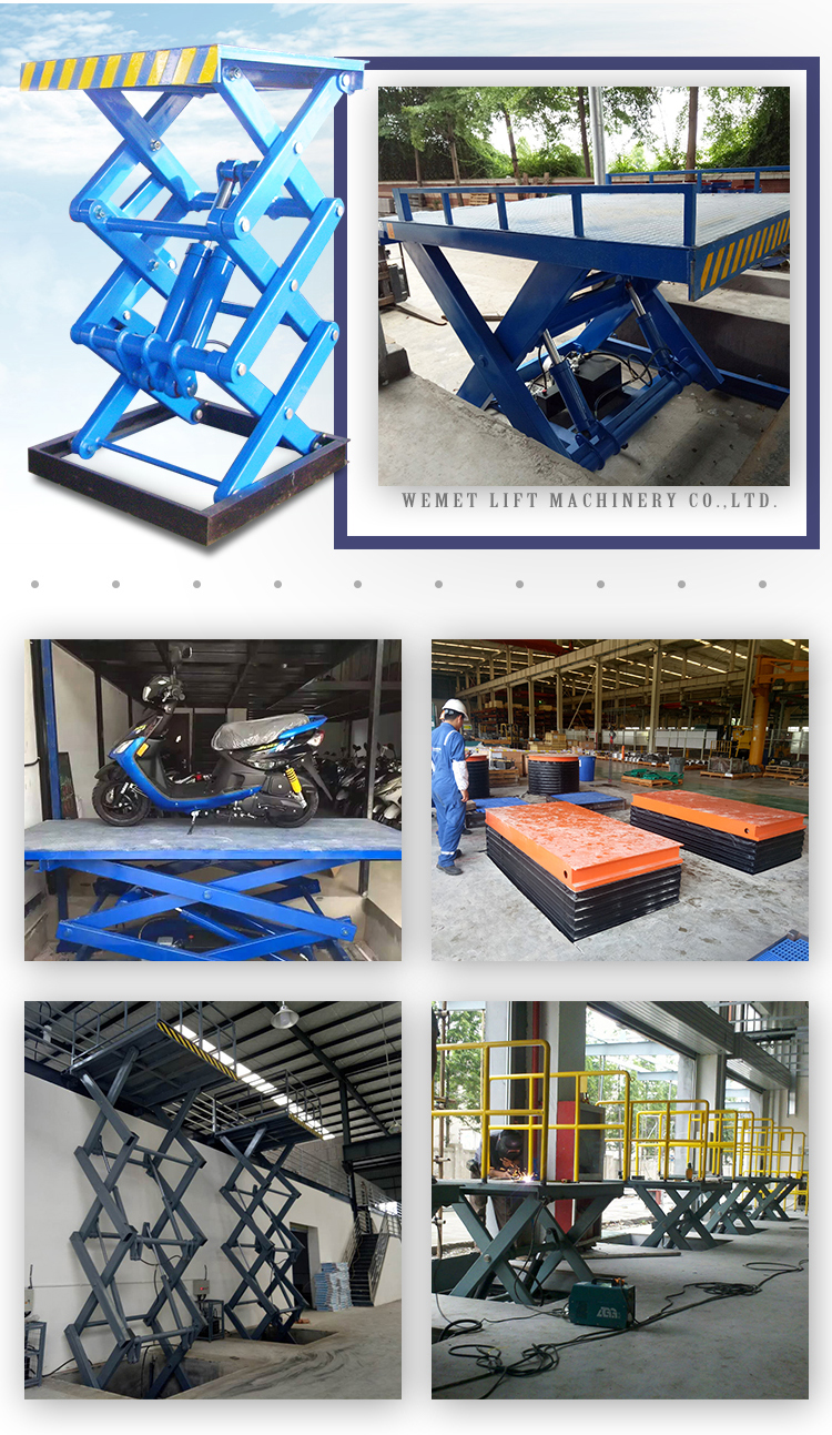 Wemet Hydraulic Space Saving Car Lift Double Layers In Ground