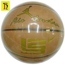 High grade cow leather basketball size 7 wholesale official size and weight custom basketball ball