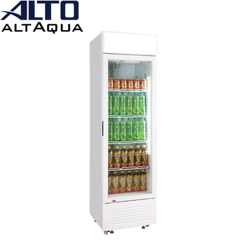 Altaqua display chiller of glass door upright vertical type for soft drink beer Pepsi cola