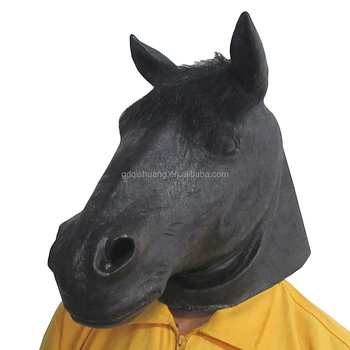 creepy party novelty halloween costume party animal head latex mask brown new design horse mask