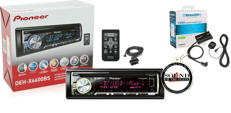 Pioneer DEH-X6800BS CD RDS Receiver AUX//USB//BT//SiriusXM