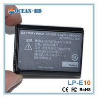 Made in China nimh battery pack 7.4v lithium battery LP-E10 for Canon