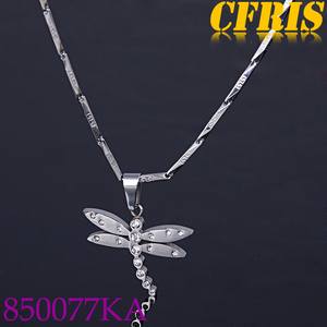 Women accessory stainless steel jewelry dragonfly pendant