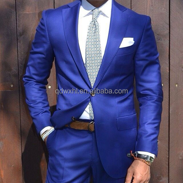 Men'stailored Latest Coat Pant Designs Royal Blue Suits For Men ...